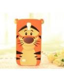 "Carcasa protectie spate ""tigru"" din silicon pentru Samsung Galaxy S4"